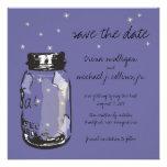 Fireflies & Mason Jar Save the Date Custom Invites