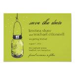 Fireflies & Mason Jar Save the Date Invitation