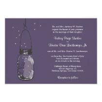 "Fireflies & Mason Jar Wedding Invitations 5"" X 7"" Invitation Card"