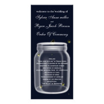 fireflies mason jar  Wedding program
