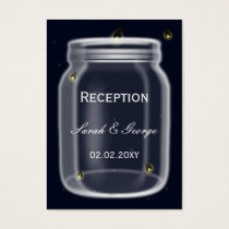 fireflies mason jar wedding Reception Cards