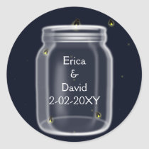 fireflies mason jar wedding seals