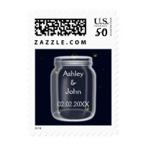 fireflies mason jar wedding stamps
