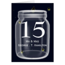 fireflies mason jar wedding table numbers