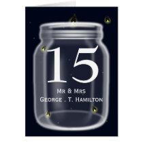 fireflies mason jar wedding table numbers card