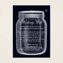 fireflies mason jar wishing well cards