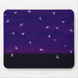 Fireflies Mouse Pad