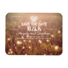 Fireflies Nature Whimsical Save The Date Magnet at Zazzle