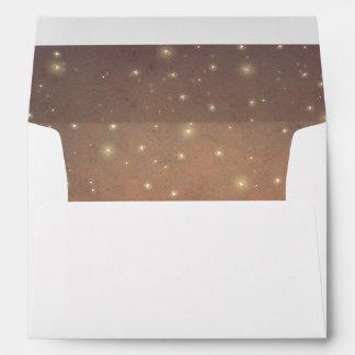Fireflies Night Vintage Rustic Wedding Envelope