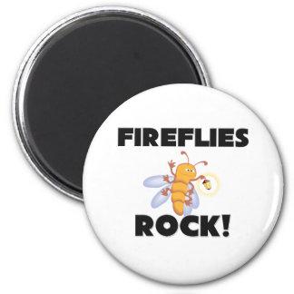 Fireflies Rock 2 Inch Round Magnet