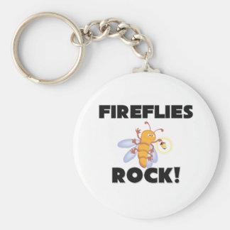 Fireflies Rock Basic Round Button Keychain
