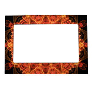 fireflower kaleidoscope magnetic picture frame