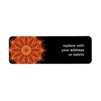 Fireflower Kaleidoscope Return Address Label