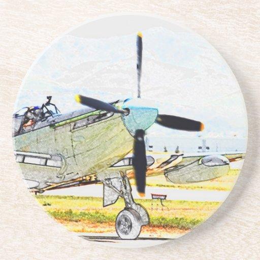 Firefly AS-6 rendering Aviation Art Drink Coaster