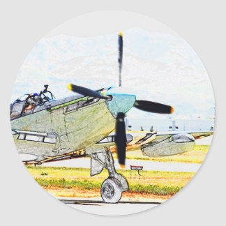 Firefly AS-6 rendering Aviation Art Round Stickers