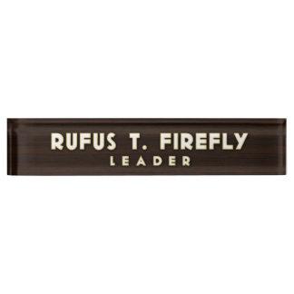 Firefly Desk Nameplate