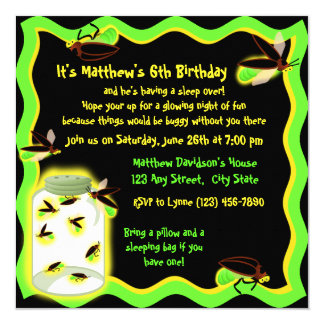 Firefly Frolic Birthday Card