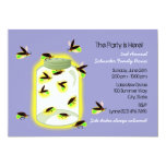Firefly Frolic Party 5x7 Paper Invitation Card