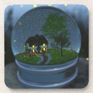 Firefly Globe Cork Coasters