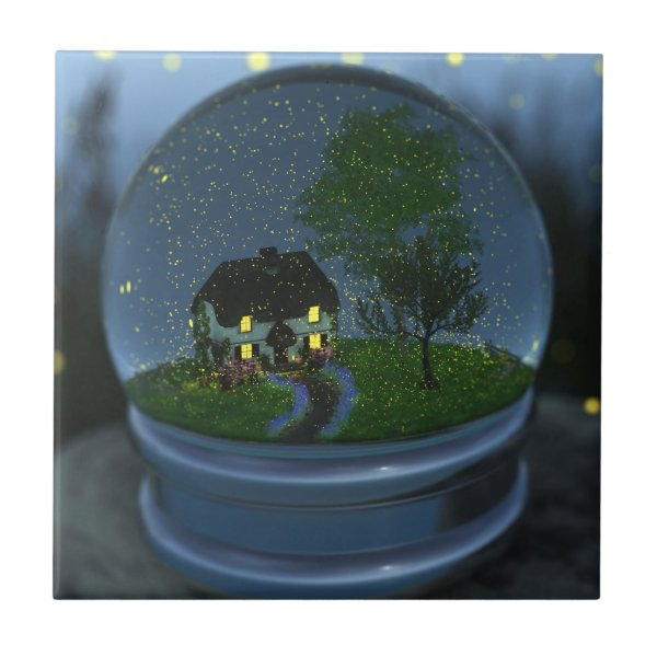 Firefly Globe Decorative Tile