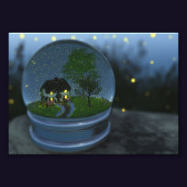 Firefly Globe Photo Print