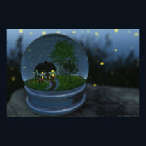 Firefly Globe Print