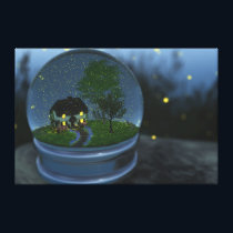 Firefly Globe Wrapped Canvas