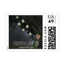 Starry Nights Oak Tree Wedding Stamps