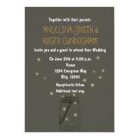 Firefly Mason Jar Rustic Wedding Invitation