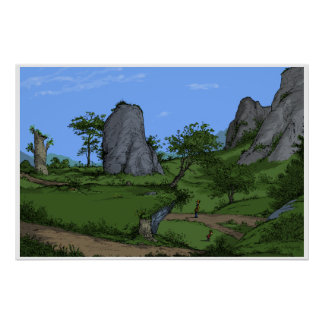 Firefly Morning by Big Rock Walk Poster