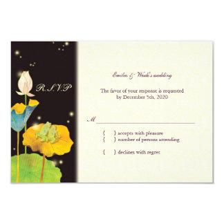 Firefly Night Cute & Romantic Wedding RSVP (3.5x5) 3.5x5 Paper Invitation Card