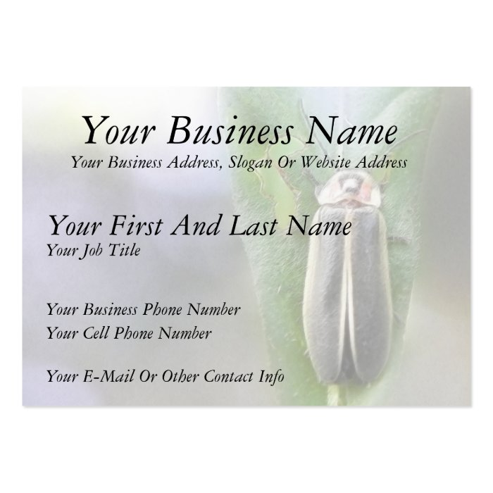 Firefly - Photuris Pyralis Large Business Card
