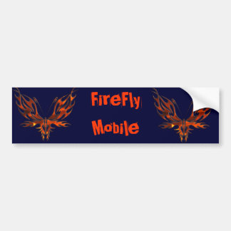 FireFly Red Flame Butterfly Design Bumper Sticker