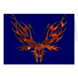 FireFly Red Flame Butterfly Design Card