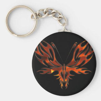 FireFly Red Flame Butterfly Design Keychain