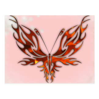 FireFly Red Flame Butterfly Design Postcard