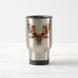 FireFly Red Flame Butterfly Design Travel Mug