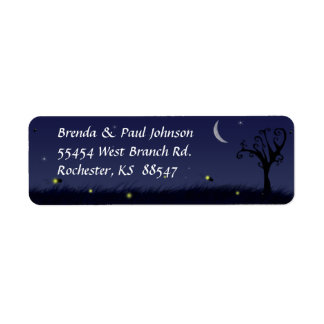 Firefly Summer Evening Return Address Label