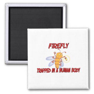 Firefly trapped in a human body fridge magnets