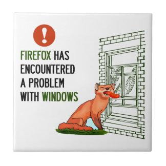Firefox ha encontrado un problema con las ventanas azulejo cuadrado pequeño