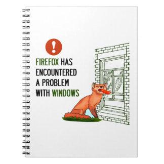 Firefox ha encontrado un problema con las ventanas libros de apuntes