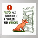 Firefox ha encontrado un problema con las ventanas posters