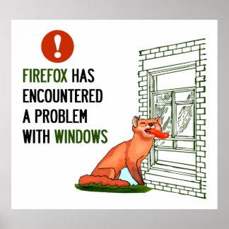 Firefox ha encontrado un problema con las ventanas póster