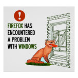 Firefox has encountered a problem with windows print