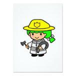 Firegirl 1 5x7 paper invitation card