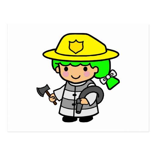 Firegirl 1 postcards