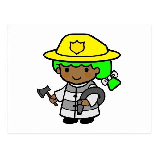 Firegirl 2 postcard