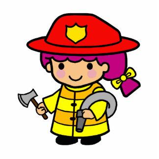 Firegirl Standing Photo Sculpture
