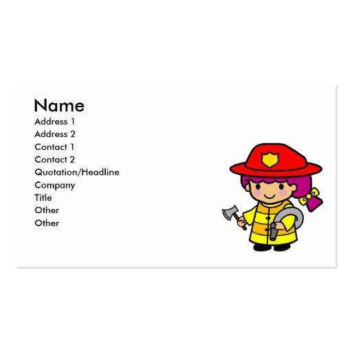 Firegirl Plantilla De Tarjeta De Negocio
