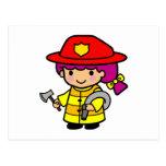 Firegirl Tarjetas Postales